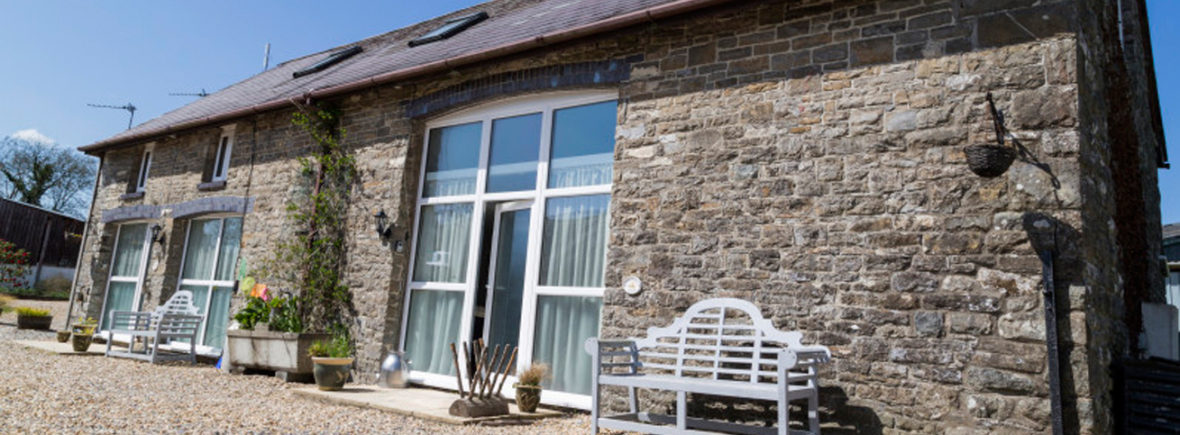 External shot of the 3 bedroom Holiday Cottage the Coach House at Cwmcrwth Farm & Holiday Cottages in West Wales