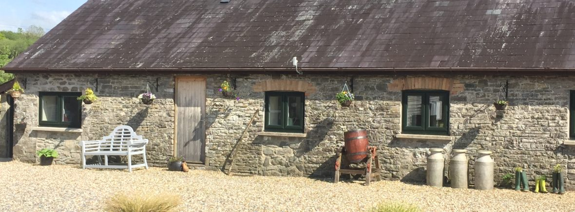 Milking Parlour cottage ideal for a weekend break at Cwmcrwth Farm & Holiday Cottages in Wales