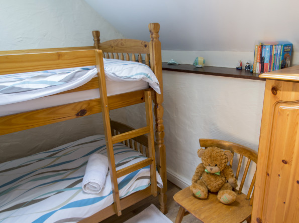 Bunk room in the 3 bedroom Holiday Cottage the Coach House at Cwmcrwth Farm & Holiday Cottages in West Wales