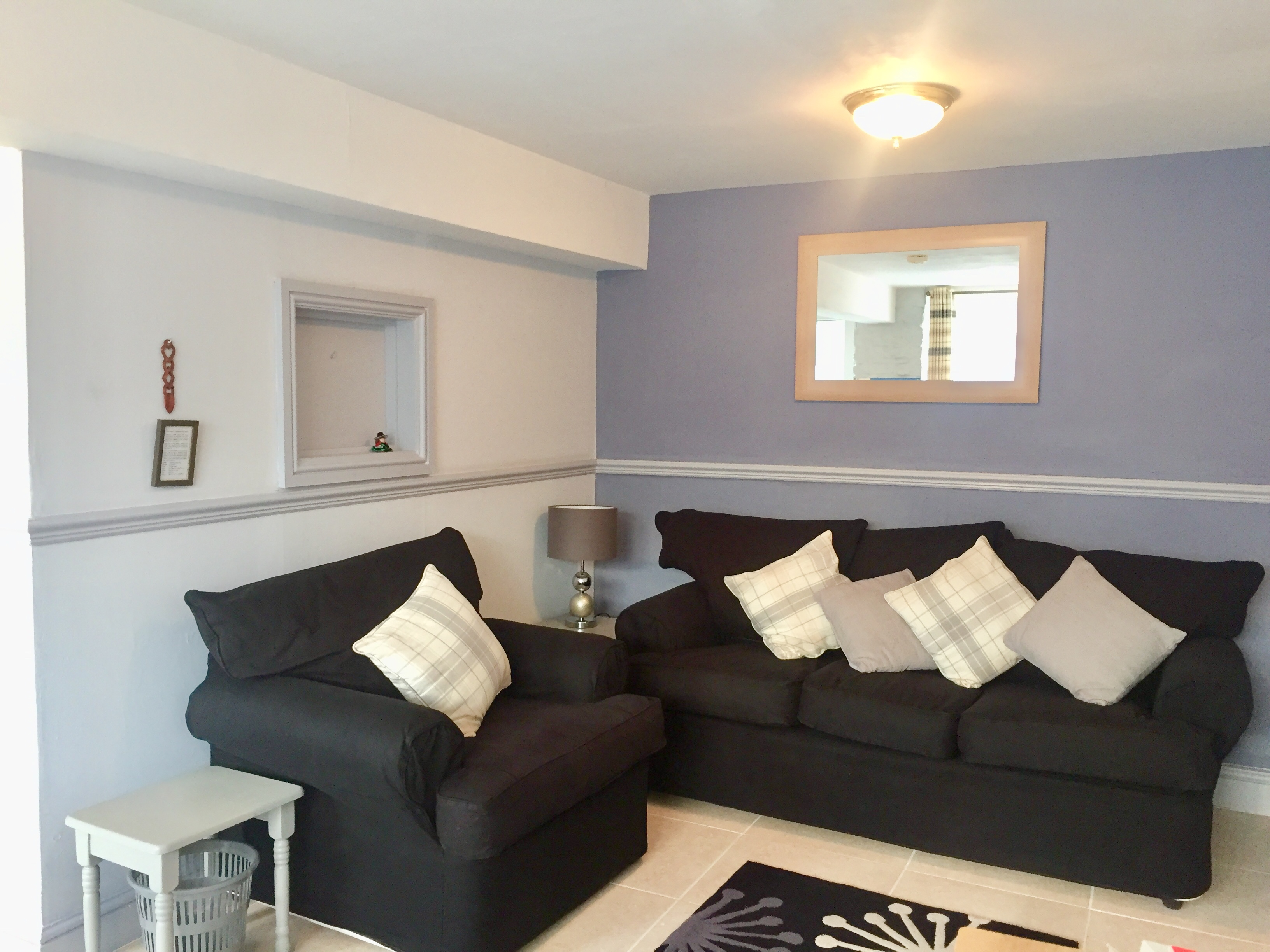 Lounge area in the 2 bedroom holiday cottage at Hayloft at Cwmcrwth Farm Holiday Cottages in West Wales